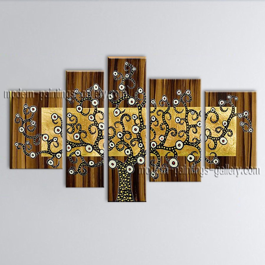 Tetraptych Contemporary Wall Art Landscape Painting Tree Artist Artworks