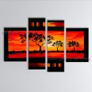 Tetraptych Contemporary Wall Art Landscape Painting Artist Artworks