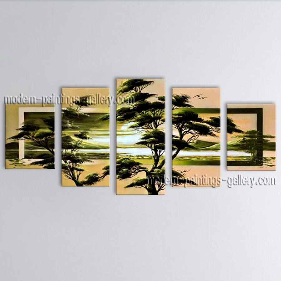 Hand-painted Large Contemporary Wall Art Landscape Painting Inner Framed