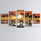 Pentaptych Contemporary Wall Art Landscape Painting Inner Stretched