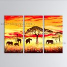 Beautiful Contemporary Wall Art Landscape Painting Africa Sunset Scene