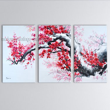 Elegant Contemporary Wall Art Landscape Painting Tree Contemporary Decor