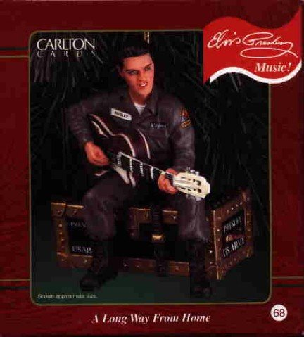 Carlton Ornament  ~ A Long Way From Home 2000  Elvis Pres