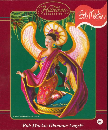 Carlton Ornament ~  Bob Mackie Glamour Angel 2003