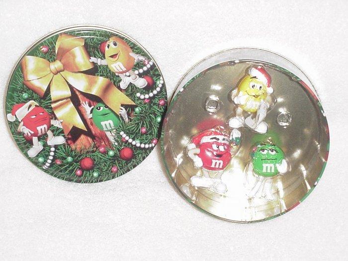 Carlton Ornaments ~ M&Ms Trio Tin 2000 ~ 3 Ornaments