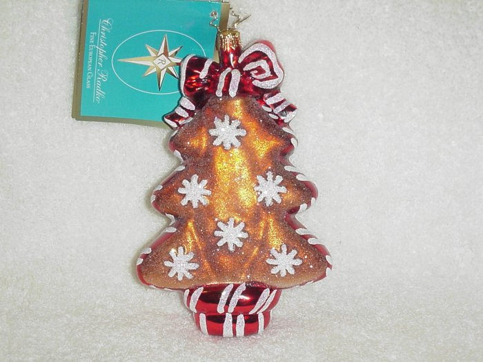 Christopher Radko Glass Ornament ~ Ginger Sweet Street Tree