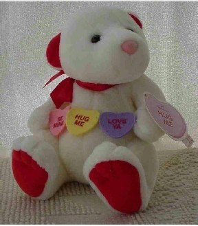 Hallmark ~ PLUSH Valentine Bear with Conversation Heart Candy