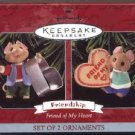 Hallmark Ornament ~ Friend of My Heart 1998 ~ set of 2 mice