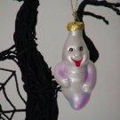 Ghost ~ Halloween Blown Glass Ornament
