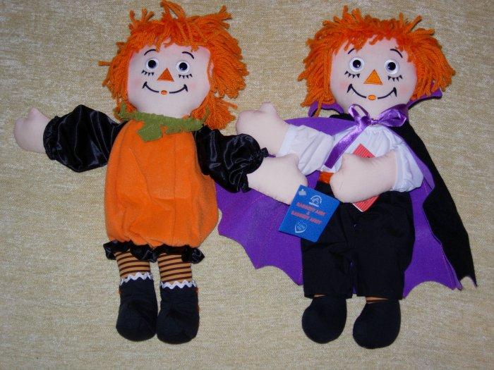 Halloween Raggedy Ann (Pumpkin) & Andy (Dracula)