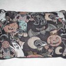 Halloween Tapestry Print Pillow ~ NEW