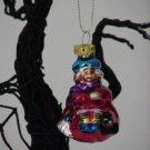 Witch Girl ~ Halloween Blown Glass Ornament