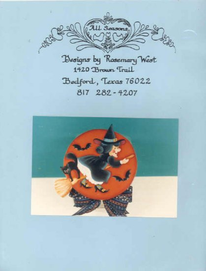 Decorative Painting Wanda Witch Cookie Jar Pattern 1986