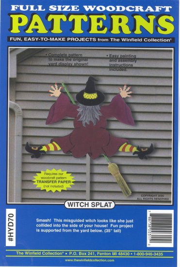 Witch Splat ~ Woodcraft Pattern ~ 35 in tall