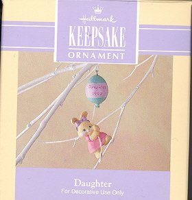 Hallmark Spring Ornament ~ Daughter 1992