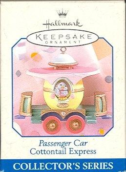 Hallmark Spring Ornament ~ Passenger Car 1998 ~ Cottontail Express Series