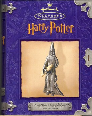 Hallmark Ornament ~ Professor Dumbledore 2000 ~ Pewter