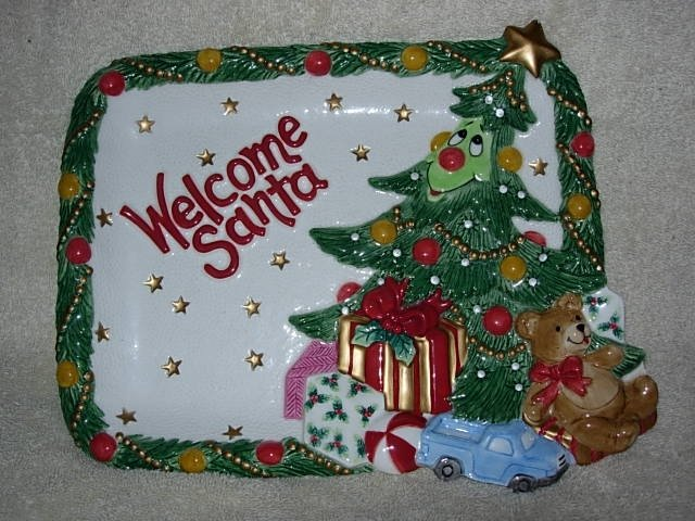 Fitz and Floyd ~ Wee Christmas Tree Cookies Plate