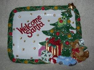 Fitz and Floyd ~ Wee Christmas Tree Cookies Plate