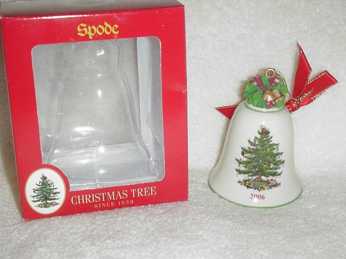 Spode Christmas Tree Ornament ~ Annual Bell 2006