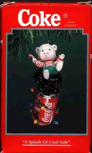 Coke Ornament ~ A Splash of Cool Yule 1996