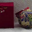 Cloissone Birdhouse Ball 2000 Ornament