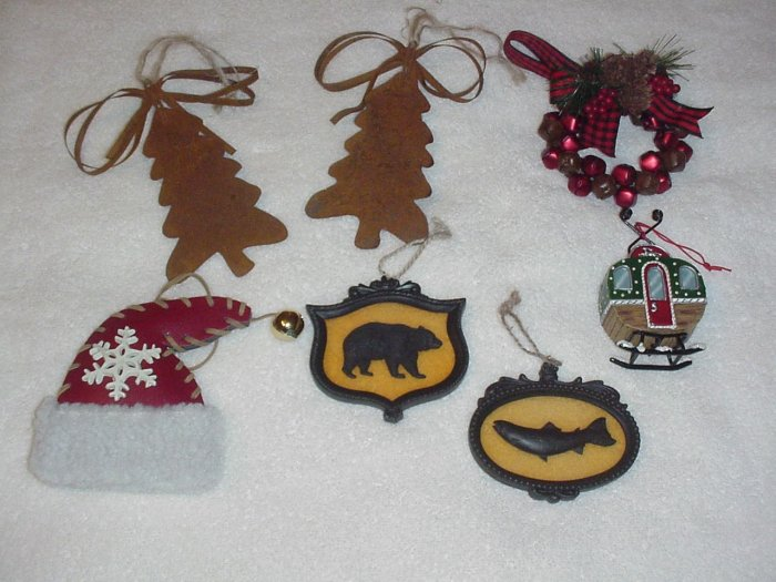 7 Lodge ~ Rustic ~ Hunter Themed Ornaments