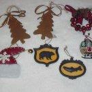 7 Lodge ~ Rustic ~ Hunter Themed Ornaments