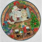 Old World Santa ~ Making A List ~ 3-dimensional Plate