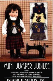 17 to 19 inch Doll Clothes Pattern ~ Mini Jumper Jubile