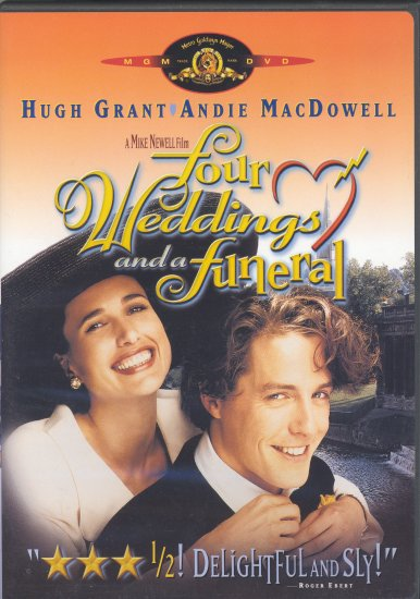 Four Weddings and a Funeral ~ DVD ~ 1994 ~ Hugh Grant & Andie McDowell