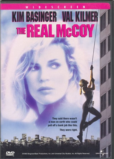 The Real McCoy ~ DVD ~ 1993 ~ Kim Basinger & Val Kilmer