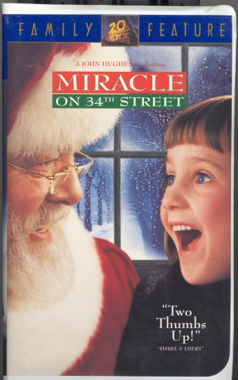 Miracle on 34th Street ~ VHS Tape 1995 ~ Elizabeth Perkins