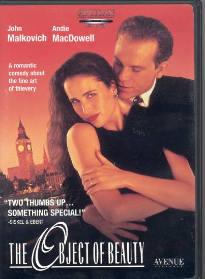 The Object of Beauty ~ DVD ~ 1994 ~ Andie MacDowell & John Malkovich