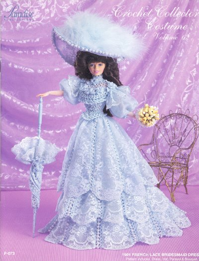 Barbie Crochet Pattern ~ 1901 French Lace Bridesmaid Dress