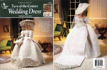 Barbie Crochet Pattern ~ Turn-of-the-Century Wedding Dress ~ Annie's Attic