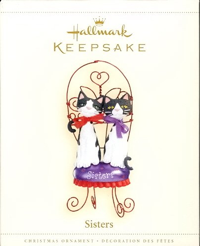 Hallmark Ornament ~ Sisters 2006 ~ Cats