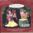 Hallmark Ornament ~ Snow White 1997 ~ set of 2 ~ Anniversary Edition