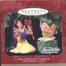 Hallmark Ornament ~ Snow White 1997 ~ set of 2 ~ Anniversary Edition