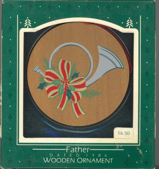 Hallmark Ornament ~ Father 1986