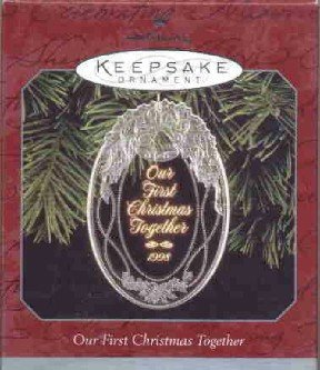 Hallmark Ornament ~ Our First Christmas Together 1998 ~ Acrylic