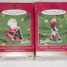 2 Hallmark Ornaments ~ Barbie & Kelly 2000 & 2001