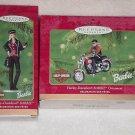 2 Hallmark Ornaments ~ Harley Davidson Barbie 2000 & 2001