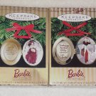 2 Hallmark Ornaments ~ Victorian Barbie Lockets ~ 1996 & 1997