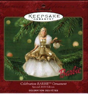 Hallmark Ornament ~ Celebration Barbie 2000 ~ Celebration Barbie series