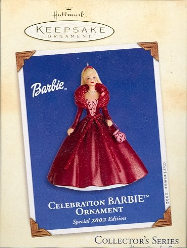 Hallmark Ornament ~ Celebration Barbie 2002 ~ Celebration Barbie series