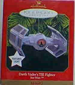 Hallmark Magic Ornament  ~ Darth Vader's TIE Fighter 1999 ~ Star Wars
