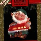 Hallmark Magic Ornament ~ Elfin Engineer 1991