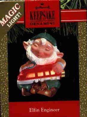 Hallmark Magic Ornament ~ Elfin Engineer 1991