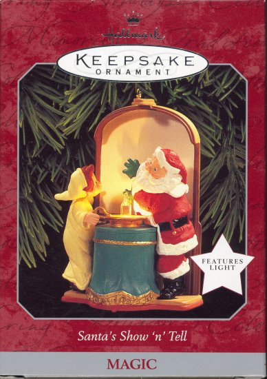 Hallmark Magic Ornament ~ Santa's Snow 'n' Tell 1998